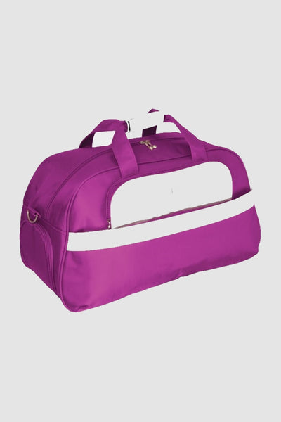 Two tone golf holdall - purple/white