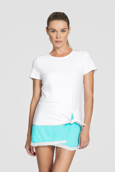Tail Sibley Short Sleeved Top - White