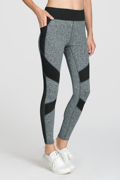 Tail Alsey Leggings - Light Grey Space Dye