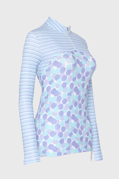Bette & Court Fuse long sleeved Polo - Cloud Nine