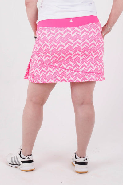 "Birdies & Bows Slice it right skort 18"" - Pink par"