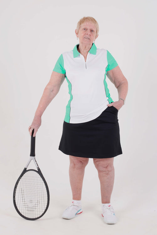 Nancy Lopez Bee short sleeved polo - Aqua