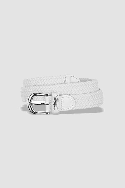 Woven golf belt - White