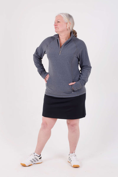 Sofibella Fleece half zip - steel grey