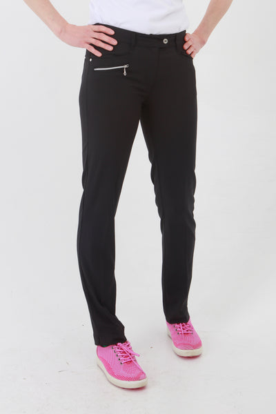 Such a comfortable fit for the ladies golf season. Ladies Golf trousers in a stylish black are perfect for your ladies golfing wardrobe.    Matched with the JRB Ladies Golf shirts in various stunning designs and you will look amazing when out doing your Daily Sports.