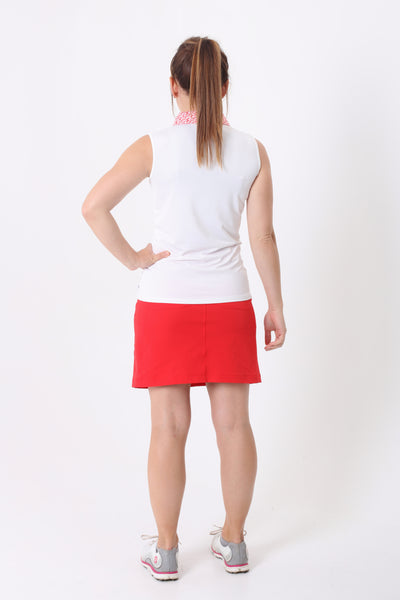 Looking for stylish ladies golf polos.  Or looking for ladies golf tops that are son on-trend.  The Catalina Sleeveless polo from Calvin Klein Golf is elegant and timeless.  Calvin Klein golf is a great ladies golfing choice.  Calvin Klein Golf for ladies is super stylish and a perfect fit.  We love golf clothes at Suitably.
