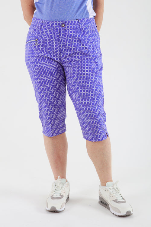 JRB City shorts - Blue Iris check