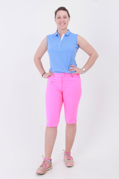 Great golf clothes for women.  If you are looking for ladies golf clothing then look at these fashionable, stylish pink ladies golf shorts. Matched with the JRB Ladies Golf shirts in various stunning designs and you will look amazing when out playing your Daily Sports.