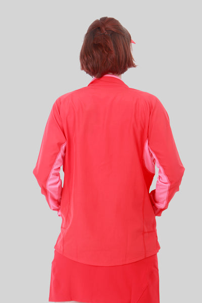 Nancy Lopez Compass Jacket -  Fiery Red/Flamingo