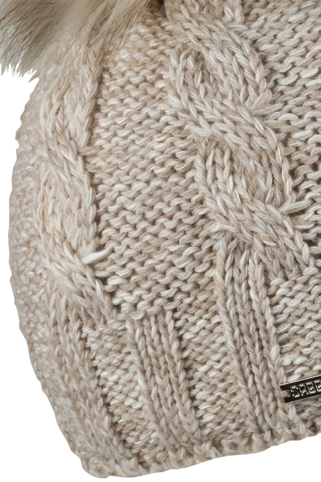 Sabbot Elsa bobble hat - Mottled Sand