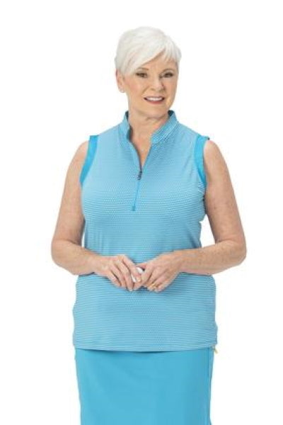Nancy Lopez Flex sleeveless polo - Aqua