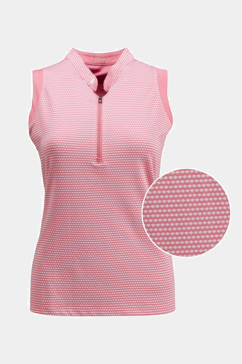 Nancy Lopez Flex sleeveless polo - Flamingo