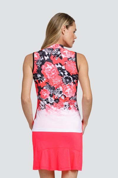 Tail Flori top - Ombre Peonies