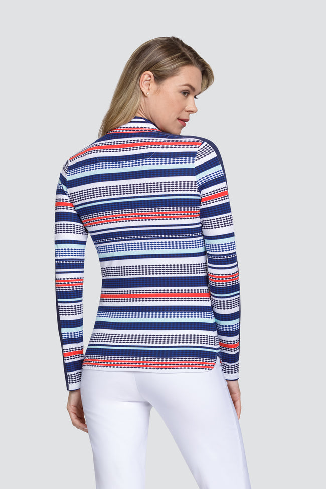 Tail Brooke top - Diamond Stripe