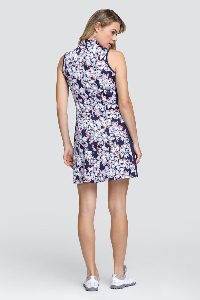 Tail Sandra Dress - Dotted Floral Ladies golf dresses for the summer are a prerequisite. We love this golf dress and it is a big hit for all lady golfers who love quality ladies golf clothing and at the same time like a ladies golf clothing sale for some end of season ladies golf outfits. We have ladies golf polo shirts and ladies golf skorts too.