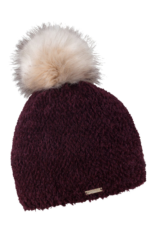 Sabbot Gizela bobble hat - Midnight Ruby