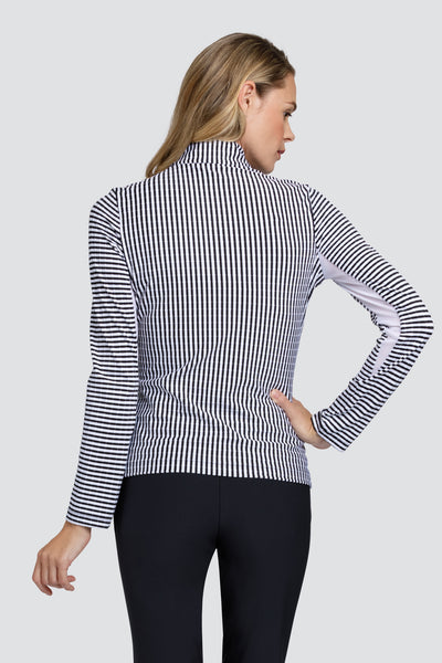 Tail Galilea long sleeved top - striped jacquard