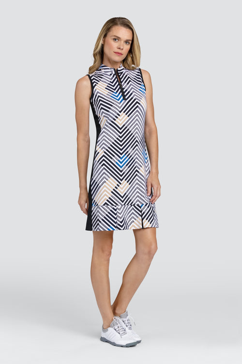 Tail Lila dress - Lines/onyx zigzag