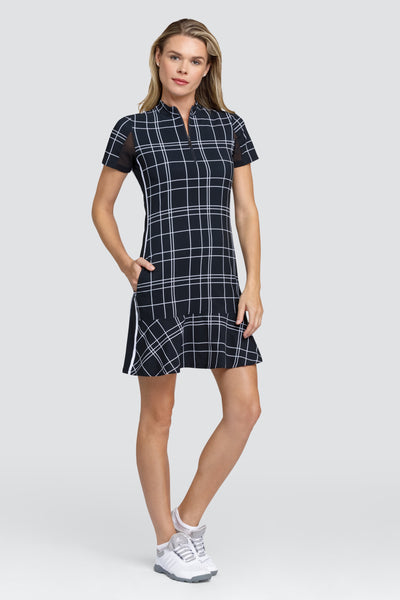Tail Emma dress - Windowpane Plaid Ladies golf dresses from Tail Activewear for the summer are a prerequisite. We love this outfit that will be a big hit for all lady golfers who love quality ladies golf clothing and at the same time like a ladies golf clothing sale for some end of season ladies golf outfits. We have ladies golf polo shirts.