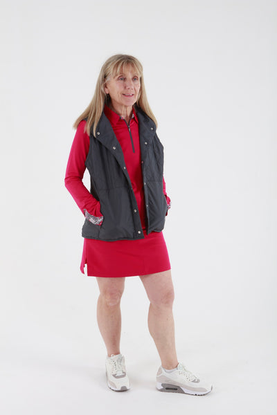 Sport Haley Tatum Quilted Gilet - Charcoal