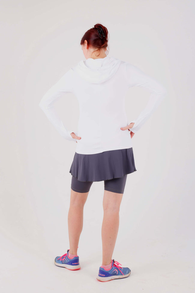 Sofibella Hoodie long sleeved - white