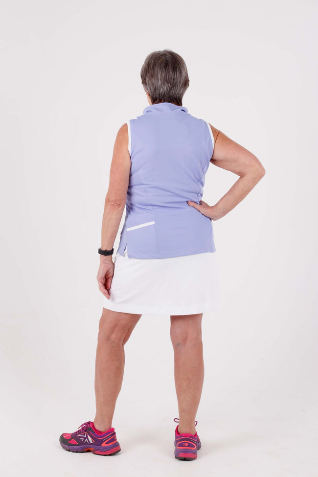 Iconic Monaco sleeveless princess shirt - Periwinkle