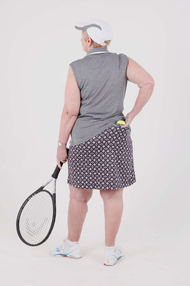 Iconic Club skort 19.5 - Geo Carbon