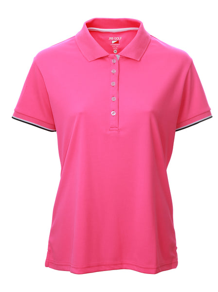 This is an essential item for every lady golfer and her golfing wardrobe.  Who doesn't need a pink golf polo shirt?  This will also work for Lady tennis players who are looking for a plain black tennis polo shirt to match with their tennis skort or tennis shorts.  Lady Tennis players and lady golfers need this.