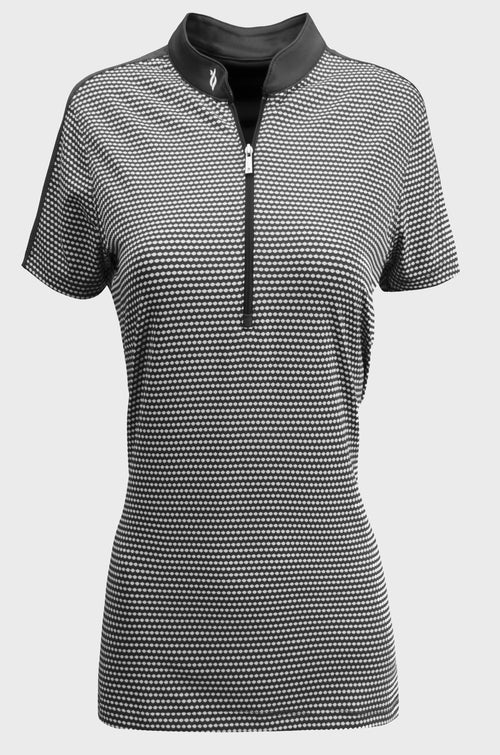 Nancy Lopez Flex short sleeved polo - Black/Multi