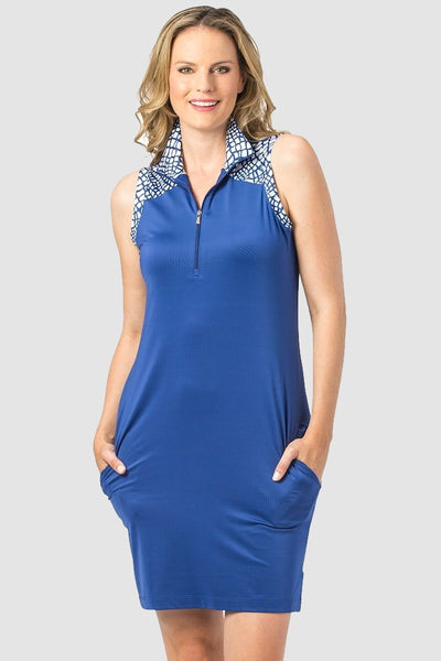 Nancy Lopez Dress - Native Blue/White