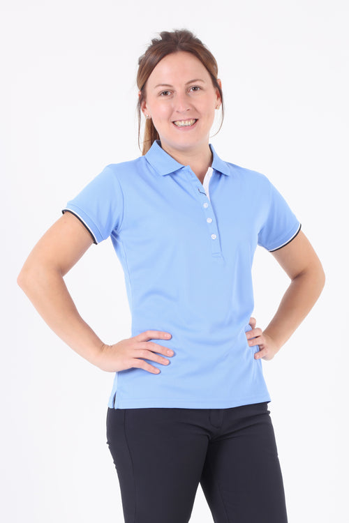 JRB Pique short sleeved polo - Cornflower Blue