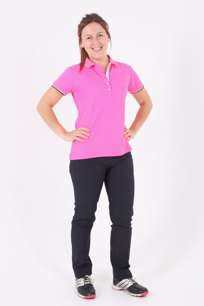 JRB Pique short sleeved polo - Pink