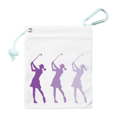 Tee & accessory bag - purple silhouette lady