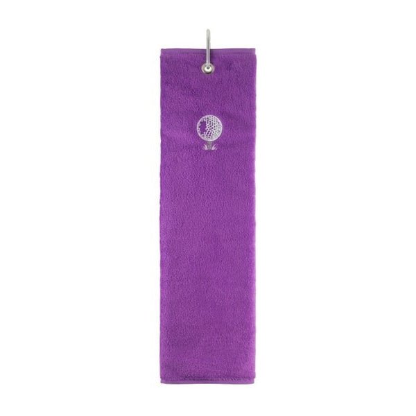 Tri-fold towel - purple