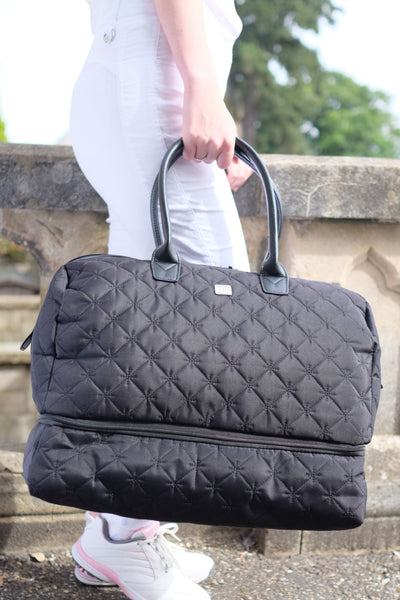 Quilted holdall - Black
