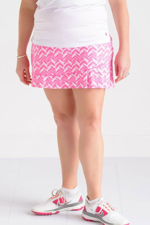 "Birdies & Bows Slice it right skort 16"" - Pink par"