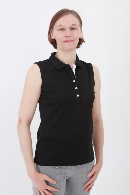 This is an essential item for every lady golfer and her golfing wardrobe.  Who doesn't need a plain black golf polo shirt?  This will also work for Lady tennis players who are looking for a plain black tennis polo shirt to match with their tennis skort or tennis shorts.  Lady Tennis players and lady golfers need this.