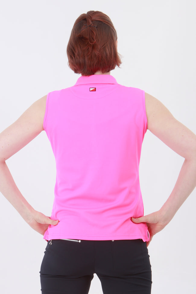 This is an essential item for every lady golfer and her golfing wardrobe.  Who doesn't need a pretty pink golf polo shirt?  This will also work for Lady tennis players who are looking for a plain pink tennis polo shirt to match with their tennis skort or tennis shorts.  Lady Tennis players and lady golfers need this.