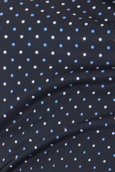 This zip necked ladies golf short sleeved polo feels silky to wear. It has a white/blue spot pattern that will give lady golfers a stylish fashion statement to impress fellow lady golfers.  There are a number of lady golf polo shirts in the new JRB Ladies Golf range.  Sleeveless and Short Sleeved ladies golf shirts.