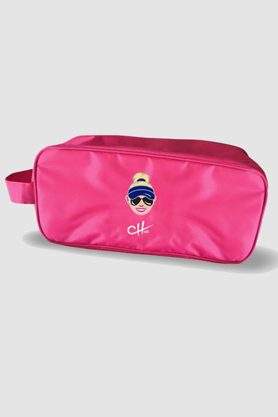 Shoe bag - Charley Hull caricature pink