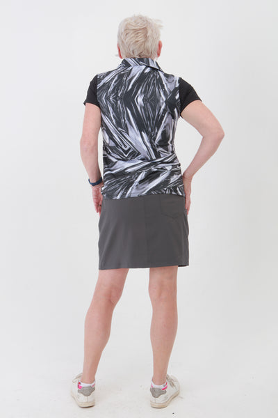 Golfing ladies, we know you're going to love this ladies golf skort. If you are looking for golf clothes for women then look at these fashionable, gun metal grey ladies golf skort. Matched with the JRB Ladies Golf shirts in various stunning designs and you will look amazing when out playing your Daily Sports.