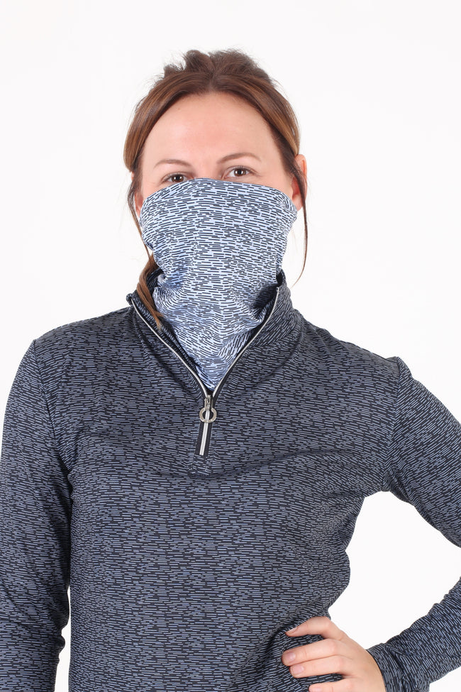 This soft and breathable snood is a must for your winter wardrobe - it's just so versatile and it matches with your winter outfit. Use it as a balaclava, headband, beanie, bandana, neckwarmer and face covering. It's also great doubled over for when you need to keep snuggly warm. Breathable fabric Quick drying Versatile One size fits all - measures 47cm length, 24cm width 98% polyester, 2% spandex Colour: Heron blue print (available in navy print, red print, black print)