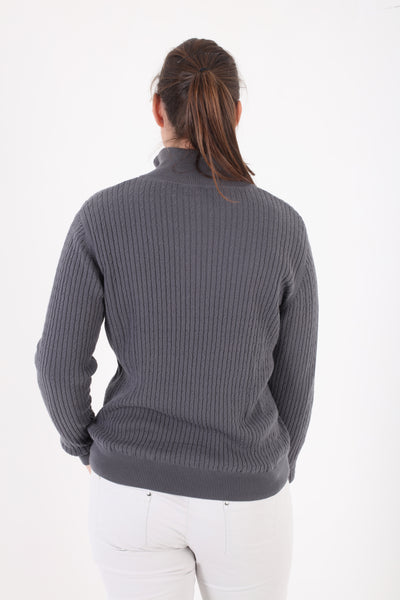 JRB lined ribbed sweater - Graphite