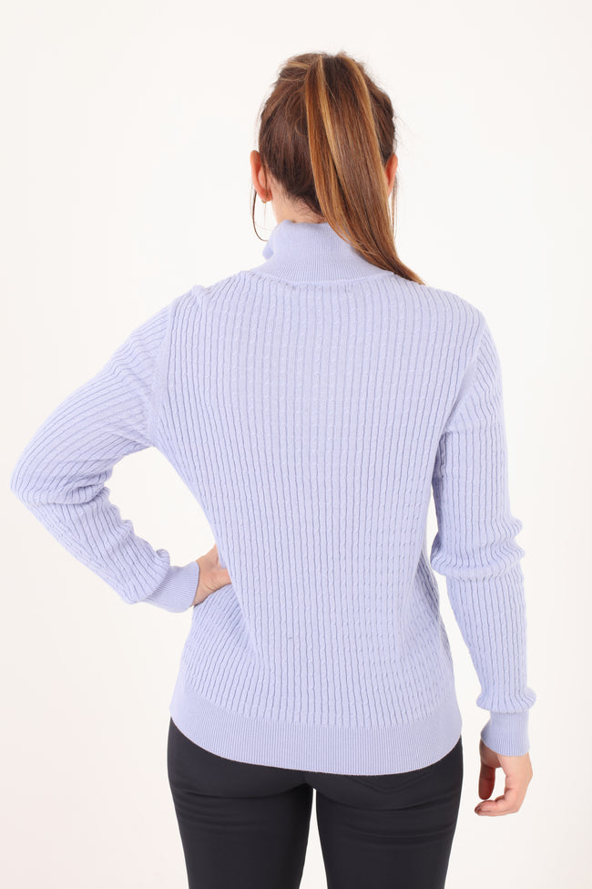 JRB ribbed sweater - Heron blue