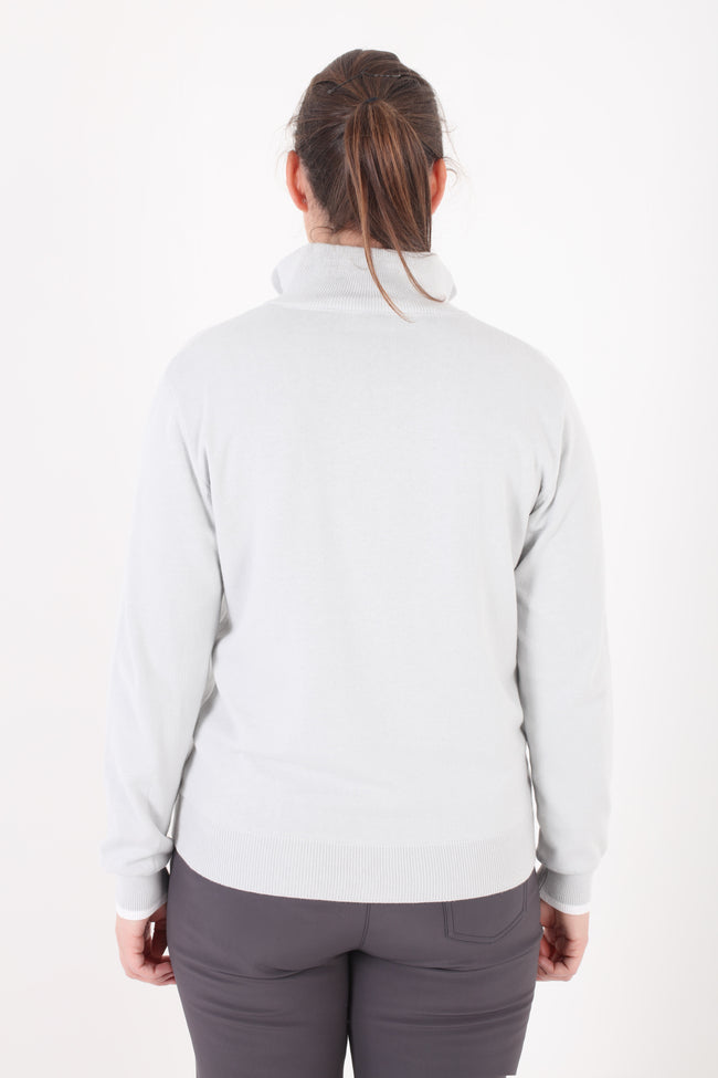 JRB Lined Sweater - Light Grey