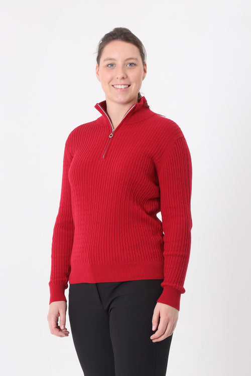 JRB ribbed sweater - Red
