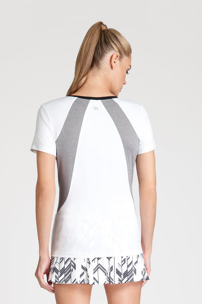 Tail Hayden Top - White/heather
