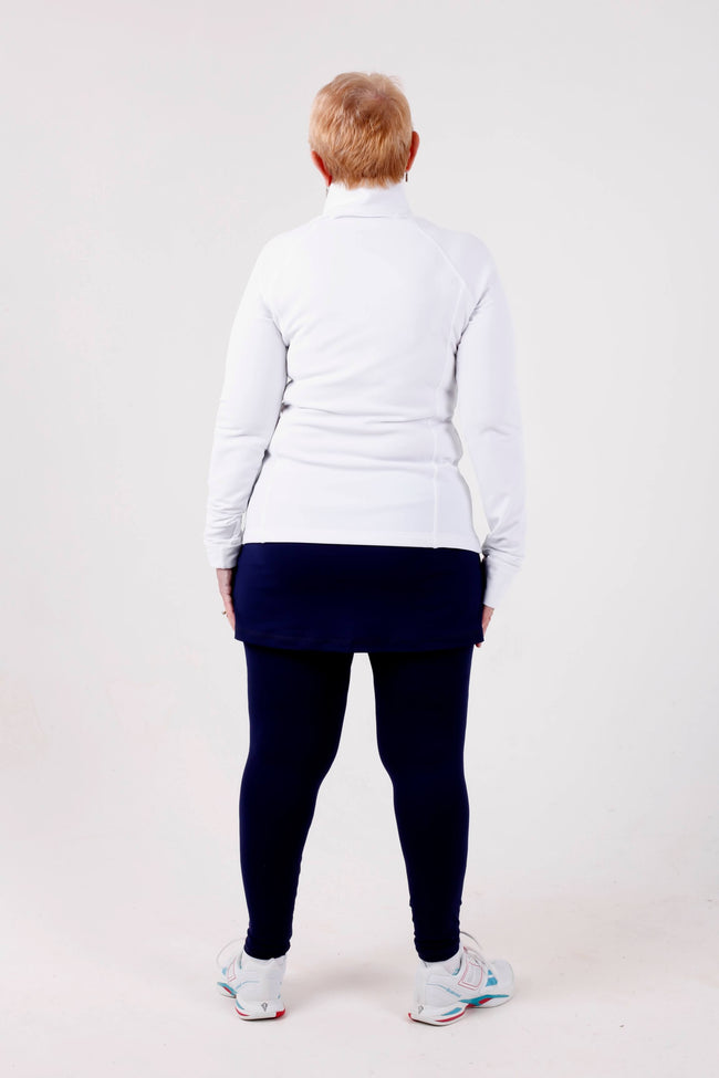 Sofibella Fleece half zip - white