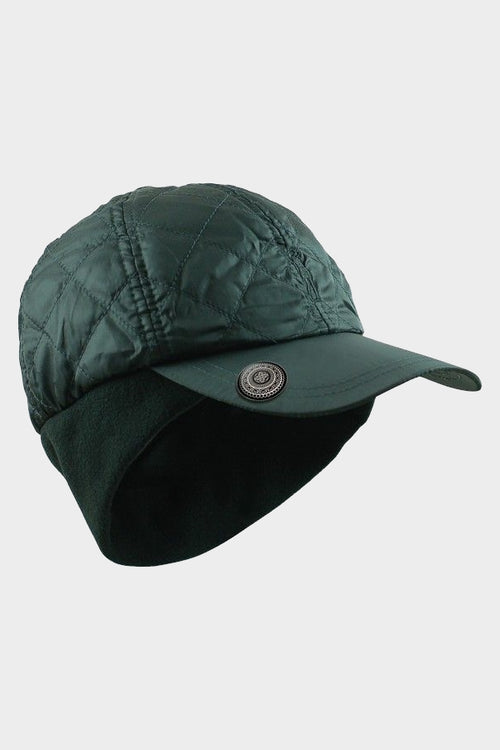 Quilted ball marker cap - black