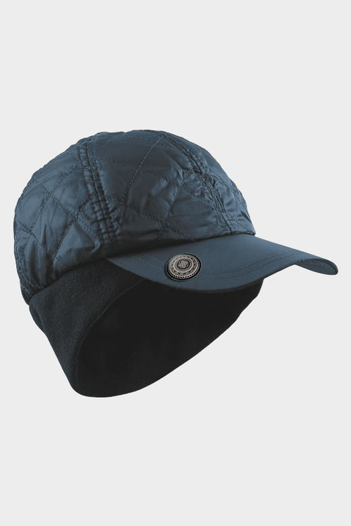 Quilted ball marker cap - navy